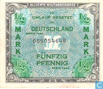 Banknoten  - Allied Military Currency - Deutschland ½ Marke