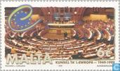 Postage Stamps - Malta - 50 years of Council of Europe