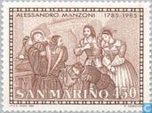 Postage Stamps - San Marino - Manzoni, Alessandro