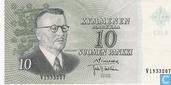 markkaa Finlande 10