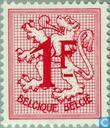 Timbres-poste - Belgique [BEL] - Chiffre sur lion héraldique