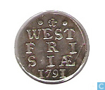Monnaies - Frise occidentale - Penny West-Friesland arme à double 1791