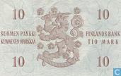 Banknoten  - Suomen Pankki / Finlands Bank - Finnland 10 Markkaa