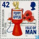 Postzegels - Man - British Legion 1921-1996