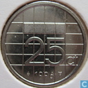 Coins - the Netherlands - Netherlands 25 cents 1996