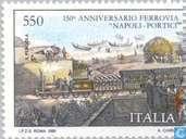 Spoorwegverbinding Napels- Portici