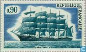 Postage Stamps - France [FRA] - Sailing ship 'France II'
