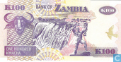 Billets de banque - Bank of Zambia - Kwacha Zambie 100