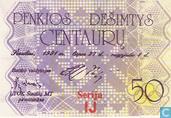 Lithuania 50 Centaurμ