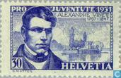 Postage Stamps - Switzerland [CHE] - Alexander Vinet, 1797-1847