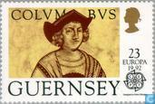 Postage Stamps - Guernsey - Europe – Discovery of America
