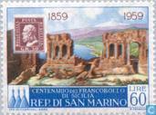 Timbre anniversaire Sicile