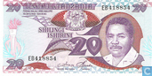 Banknotes - Benki Kuu Ya Tanzania - Tanzania 20 Shilingi