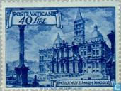 Postage Stamps - Vatican City - Basilica, Pope Pius XII