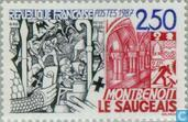 Postage Stamps - France [FRA] - Montbenoît Monastery