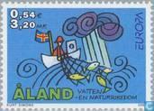 Timbres-poste - Åland [ALA] - Europe – L'eau, richesse naturelle