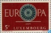 Postage Stamps - Luxembourg - Europe – Spoked Wheel