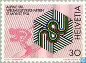 Postzegels - Zwitserland [CHE] - WK Skieën