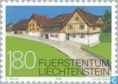 Postzegels - Liechtenstein - Gebouwen in Schellenberg