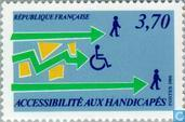 Postage Stamps - France [FRA] - Integration of disabled