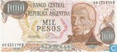 Banknotes - 1976-83 ND Issue - Argentina 1000 Pesos 1976