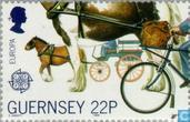 Postage Stamps - Guernsey - Europe – Transportation and communications