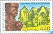 Postage Stamps - France [FRA] - Monastery Moutier d'Ahun