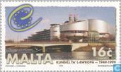 Postzegels - Malta - 50 jaar Raad van Europa