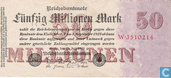Banknotes - Reichsbanknote - Germany 50 Million Mark (P98a)