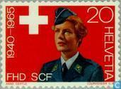 Timbres-poste - Suisse [CHE] - service d'urgence de femmes 25 ans