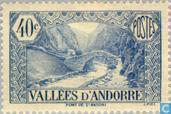 Timbres-poste - Andorre - Poste française - Paysages
