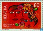 Postage Stamps - Switzerland [CHE] - Pro Familia 50 years