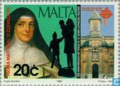 Postage Stamps - Malta - Holy Pelletier 200 years
