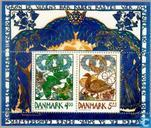 Briefmarken - Dänemark - Frühling
