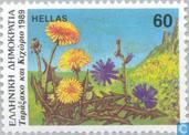 Timbres-poste - Grèce - Fleurs