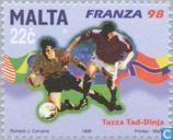 Postzegels - Malta - WK Voetbal