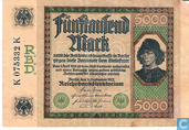 Banknotes - Reichsbanknote - Germany 5000 Mark