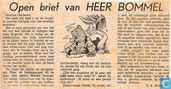 Strips - Bommel en Tom Poes - Open brief van HEER BOMMEL
