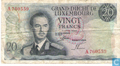 Banknotes - Grand - Duché de Luxembourg - Luxembourg 20 Francs