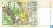 Bankbiljetten - Národná Banka Slovenska - Slowakije 20 Korun