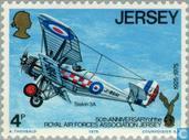 Postzegels - Jersey - R.A.F.A. 1925-1975