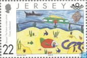 Postage Stamps - Jersey - International drawing contest