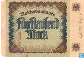 Bankbiljetten - Reichsbanknote - Duitsland 5000  Mark