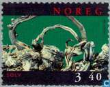 Postage Stamps - Norway - 340 green