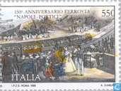 Postzegels - Italië [ITA] - Spoorwegverbinding Napels- Portici