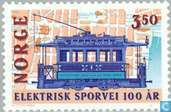 Postage Stamps - Norway - 100 years Electr. tram in Oslo