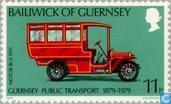 Briefmarken - Guernsey - 100 Jahre des öffentlichen Verkehrs