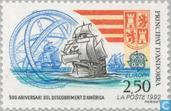 Postzegels - Andorra - Frans - Europa – Ontdekking van Amerika