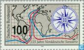Postzegels - Duitsland, Bondsrepubliek [DEU] - Noordduitse zeewacht 1868-1993