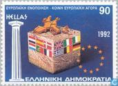 Postzegels - Griekenland - Europese binnenmarkt